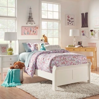 TRIBECCA HOME Alfie White Twin Bed