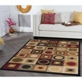 Multicolored Abstract Area Rug (5' x 7')