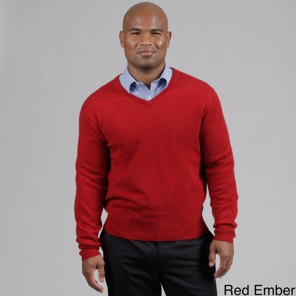 Oliver & James Men's Cashmere V-neck Sweater