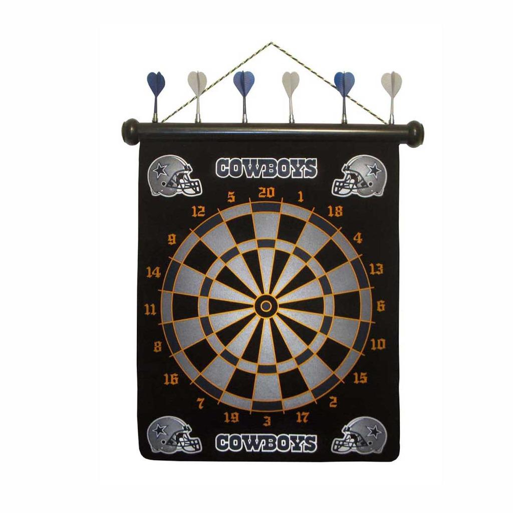 Officially Licensed Dallas Cowboys Magnetic Dartboard with Six Darts