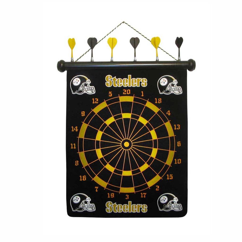 Officially Licensed Pittsburgh Steelers Magnetic 12-inch Dart Board