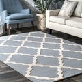 Hand-hooked Alexa Moroccan Trellis Wool Rug (3&#39;6 x 5&#39;6)