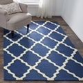 Hand-hooked Alexa Moroccan Trellis Wool Rug (5&#39; x 8&#39;)