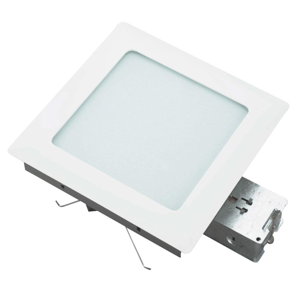 Aztec Lighting Recessed One-Light White Fixture with Frosted Glass
