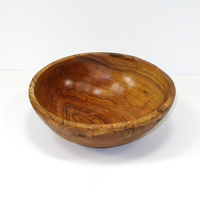 Hand-carved Olive Wood 9-inch Bowl (Kenya)