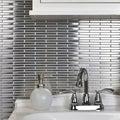 Somertile 11.75x12-in Anvil Steel Brick Metal Over Ceramic Mosaic Tiles (Pack of 10)