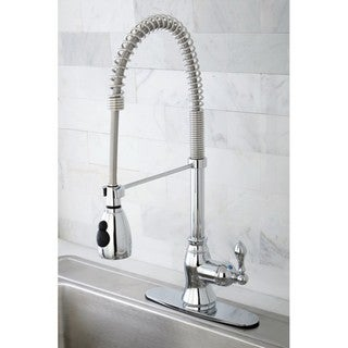 Chrome Spiral Pull-down Kitchen Faucet
