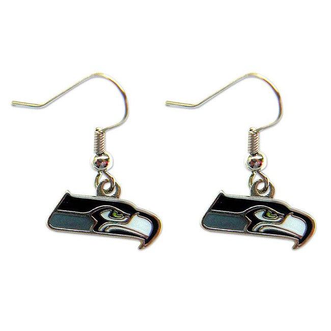 Seattle Seahawks Dangle Logo Earrings