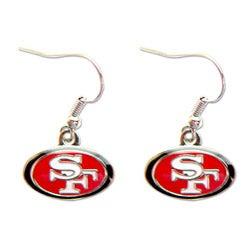San Francisco 49ers Dangle Logo Earrings