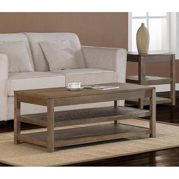 Tacoma Weathered Coffee Table Overstock Shopping Great