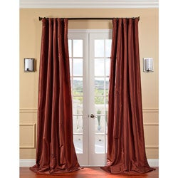 Paprika Faux Silk Taffeta Curtain Panel