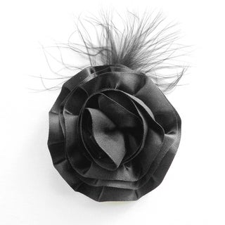 Boutique Feather and Flower Clip