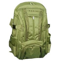 Imagine Eco-friendly Small Khaki Green Laptop Backpack