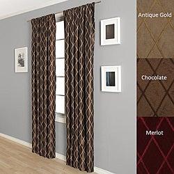 Dina Faux Taffeta Silk 84-inch Curtain Panel