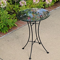 Wrought Iron Glass-topped Looping Side Table (Philippines)