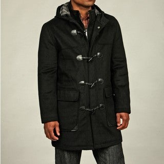 Kenneth Cole New York Men's Wool Blend Hooded Toggle Coat