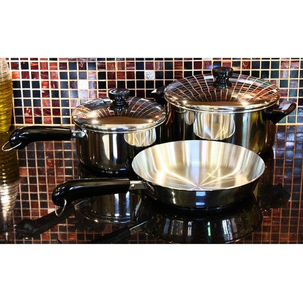 Revere Stainless Steel 10-pc Aluminum Disc Cookware Set