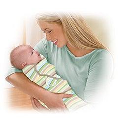 Summer Infant SwaddleMe Cotton Blanket in Wavy Stripes