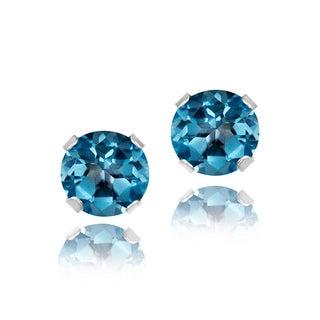 Glitzy Rocks Sterling Silver 4mm Gemstone Stud Earrings