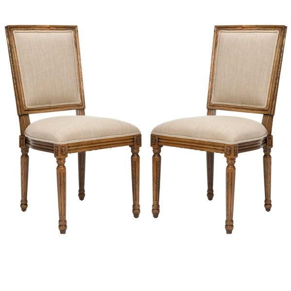 Safavieh Preston Carved Oak Side Chairs (Set of 2)