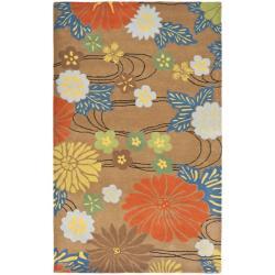 "Safavieh Handmade Cotton-Backed Soho Brown New Zealand Wool Rug (9'6"" x 13'6"")"