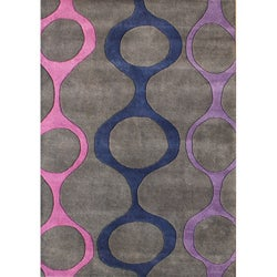 Alliyah Handmade Purple New Zealand Blend Wool Rug (8' x 10')