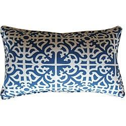 12 x 20-inch Malibu Blue Outdoor Decorative Pillow