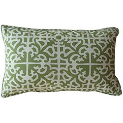 12 x 20-inch Malibu Green Outdoor Decorative Pillow