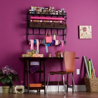 Upton Home Burnet Espresso Wall Mount Craft Storage Rack