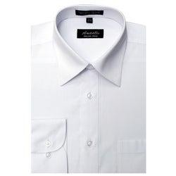 Men's Wrinkle-free White Dress Shirt