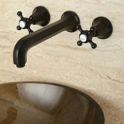 Round Amber Bronze Tempered Glass Bathroom Vessel Sink