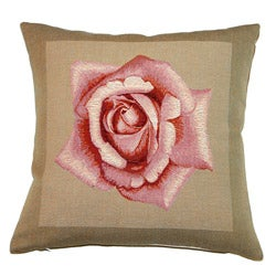 Corona Decor Pink Rose French Decorative Pillow