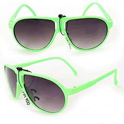 Kid's K912 Green Plastic Aviator Sunglasses