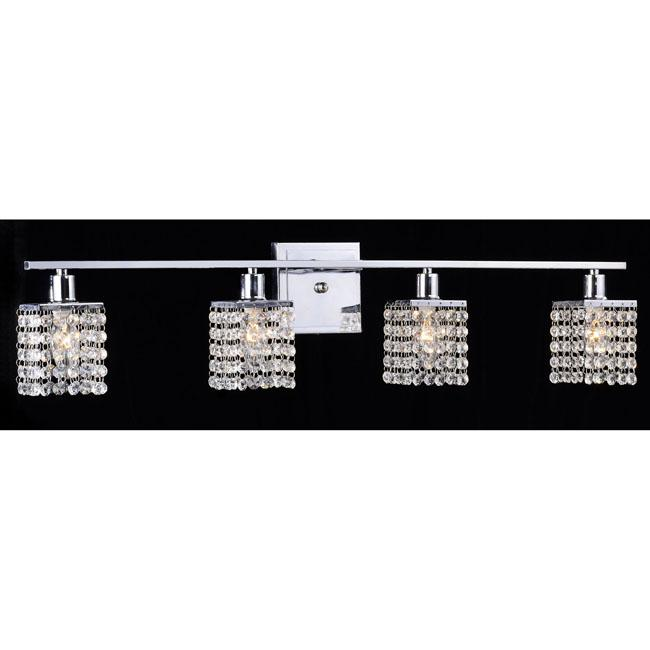 Four-light Chrome/ Crystal Wall Sconce
