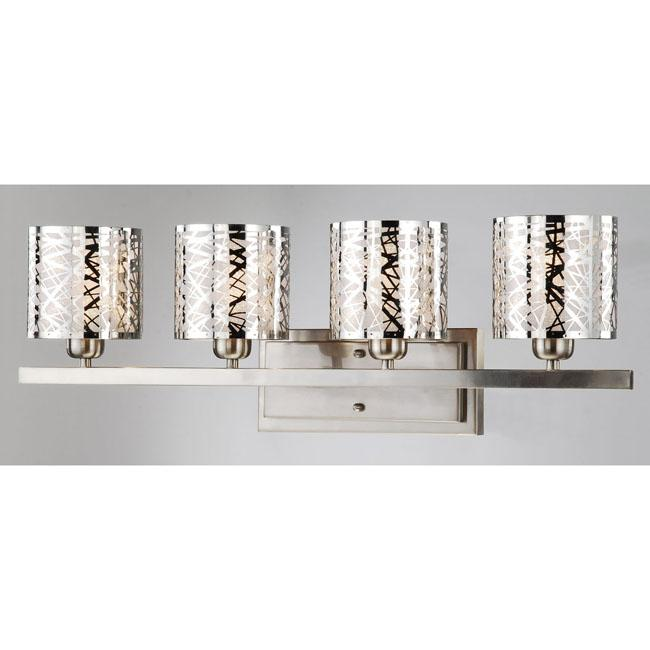 Satin Nickel 4-light Wall Sconce