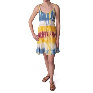 Journee Collection Juniors Tie-dye Print Spaghetti Strap Dress