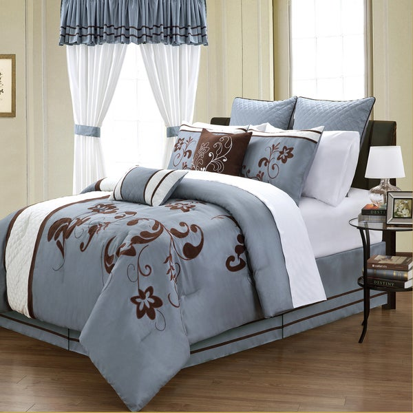 Viola 24-piece Contemporary Floral Room in a Bag with Sheet Set