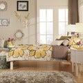 TRIBECCA HOME Simone White Twin-size Slatted Headboard Bed