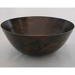 Oil Rubbed Bronze 16-inch 15-gauge Copper Vessel Bathroom Sink
