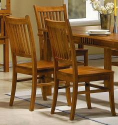 Angelica Mission Country Style Dining Chairs (Set of 2)