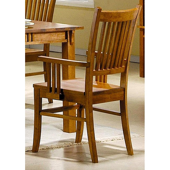 Angelica mission country style arm chairs set of 2 overstock shopping great deals on abc - Angelica kitchen delivery ...