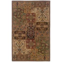 Hand-tufted Wool Multi-color Panel Rug (5' x 8')