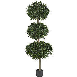 Sweet Bay Topiary 69-inch Triple Ball Silk Tree