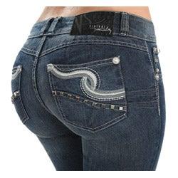 Virtual Sensuality Women's 'Katherine' Light Stretch Push Up Jeans