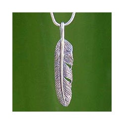 Sterling Silver 'Flight' Necklace (Thailand)