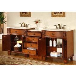 Silkroad Exclusive 84 Inch Double Sink Cabinet Bathroom Vanity Overstock Shopping Great