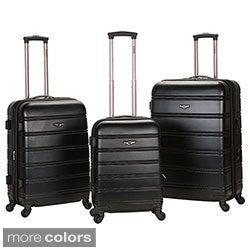 Rockland Melbourne 3-piece Expandable Hardside Spinner Luggage Set