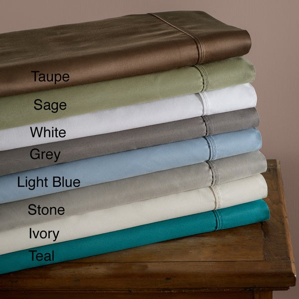 Luxor Treasures Sateen 600 Thread Count Cotton Blend Wrinkle-Resistance Pillowcases (Set of 2)