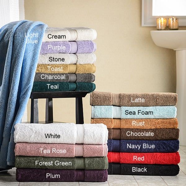 Superior Collection Luxurious 900 GSM Egyptian Cotton Bath Towels (Set of 2)