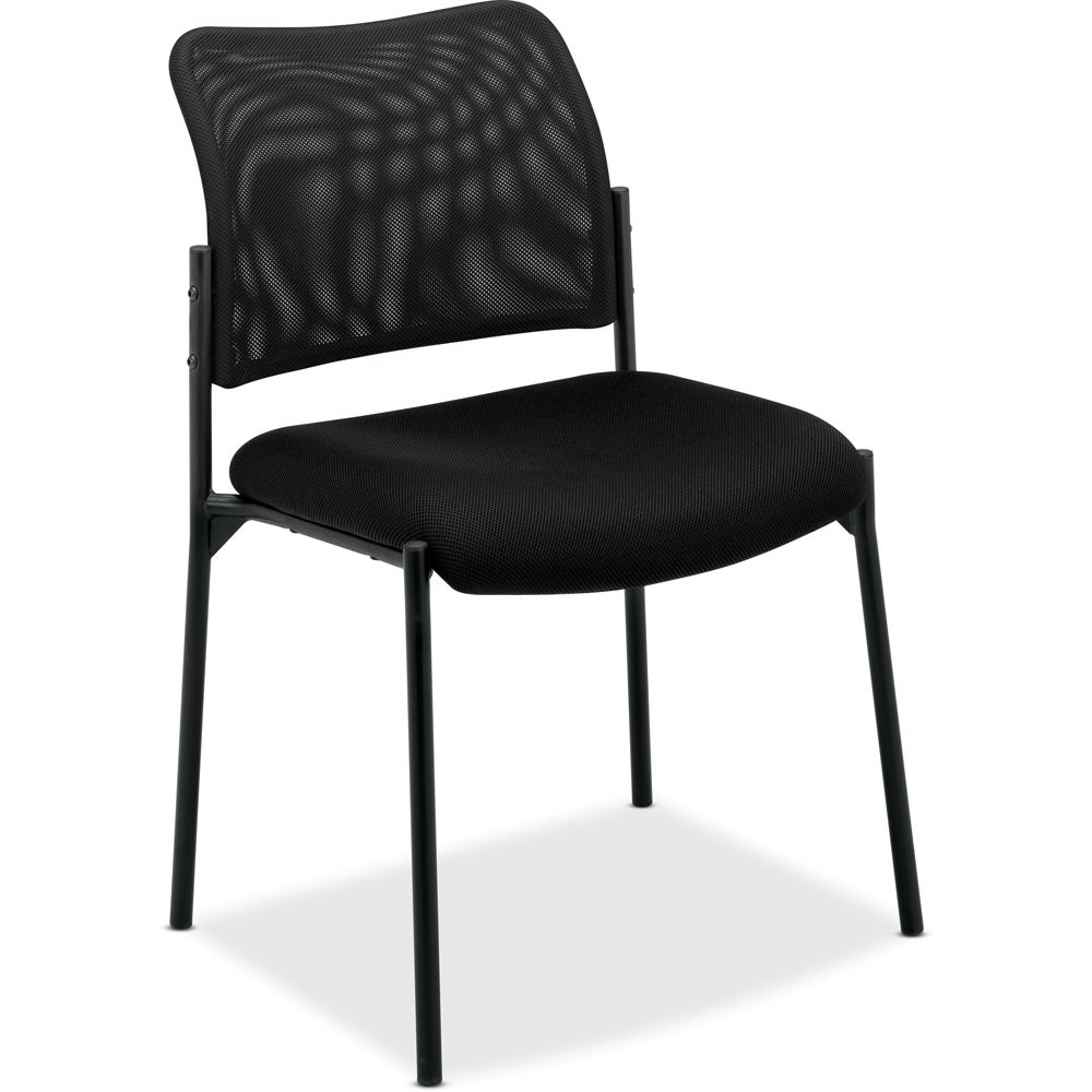basyx by HON VL506 Black Mesh Stacking Guest Chair